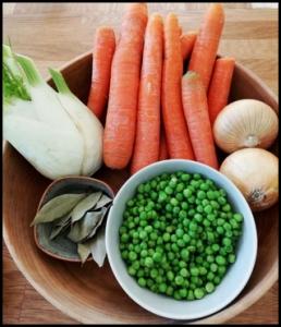 Ingrédients ratatouille carottes